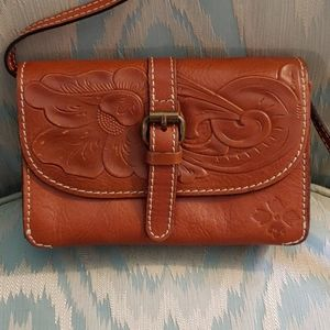 Patricia Nash Torri tooled crossbody